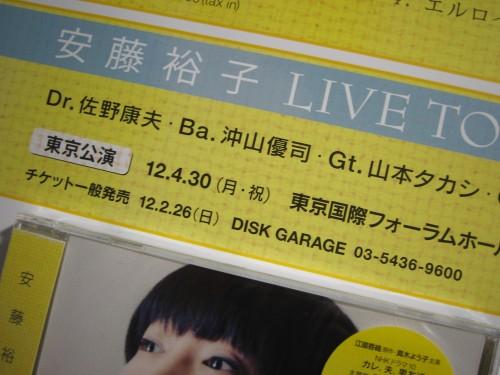 安藤裕子 LIVE TOUR 2012 (仮)