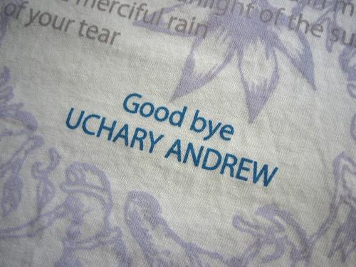 『Good bye』のTシャツ歌詞の英訳