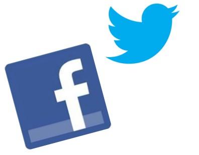 twitter Facebook ロゴ